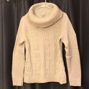 Christopher & Banks cowl-neck sweater Sz M